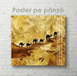 Poster, Cămile în pustiu