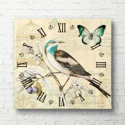 Poster, Ceasul cu o pasăre