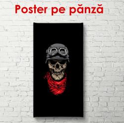 Poster, Ilustrația craniului pe fundal negru