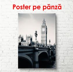 Poster, Londra alb- negru