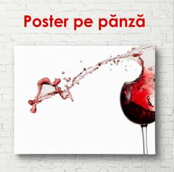 Poster, Paharul de vin roșu cu stropi