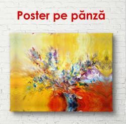 Poster, Pictură abstractă cu flori