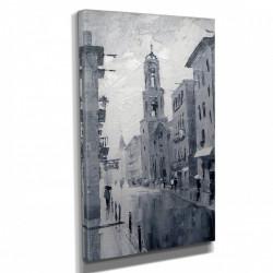 Poster, Pictura orașului pe pânză