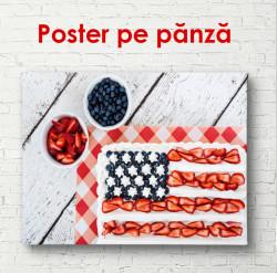 Poster, Tortul cu steag american