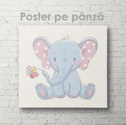 Poster, Ursuleț cu floare