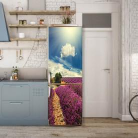 Stickere 3D pentru uși, Câmpul cu lavandă , 1 foaie de 80 x 200 cm