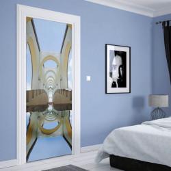 Stickere 3D pentru uși, Clădire abstractă , 1 foaie de 80 x 200 cm