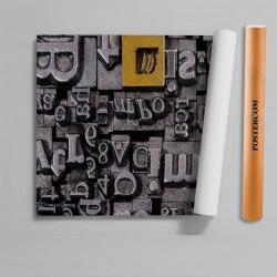 Stickere 3D pentru uși, Fantezie cu litere , 1 foaie de 80 x 200 cm