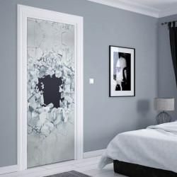 Stickere 3D pentru uși, Zidul spart , 1 foaie de 80 x 200 cm