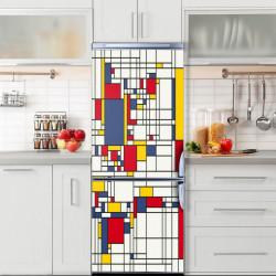 Stickerele decorative, pentru uși, Cuburi abstracte, 1 foaie de 80 x 200 cm