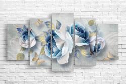 Tablou modular, Trandafiri bej
