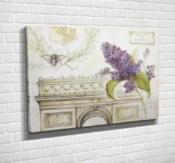 Tablouri Canvas, Liliacul pe fundalul arcului