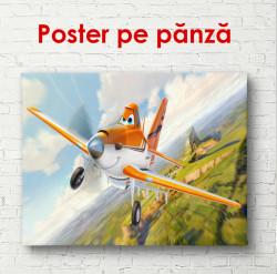 Poster, Avionul amuzant pe cer