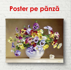 Poster, Flori sălbatice multicolore într-o vază