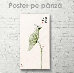 Poster, Frunză și insectă