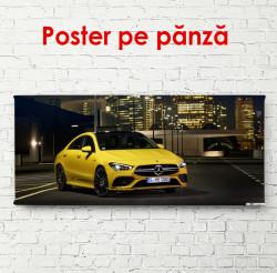 Poster, Mercedes galben în orașul de noapte