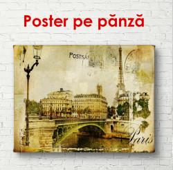 Poster, Orașul retro cu un pod
