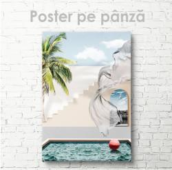 Poster, Piscină lângă hotel