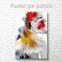 Poster, Silueta unei fete