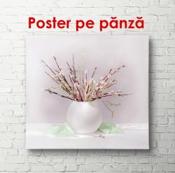 Poster, Vază albă cu crenguțe