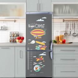 Stickere 3D pentru uși, Animăluțe zburătoare, 1 foaie de 80 x 200 cm