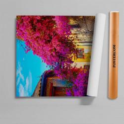 Stickere 3D pentru uși, Flori, 1 foaie de 80 x 200 cm