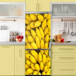 Stickere 3D pentru uși, Paradisul de banane, 1 foaie de 80 x 200 cm