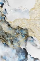 Tablou, Cer în stil de fluid art