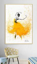 Tablou, Fată în fustă galbenă