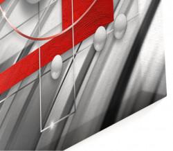 Tablou modular, Fantezie în roșu și gri