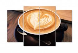 Tablou modular, Latte cu spumă în formă de inimă