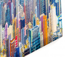 Tablou modular, Orașul multicolor