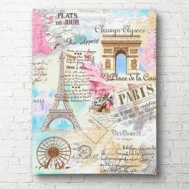 Tablouri Canvas, Parisul în culoare roz