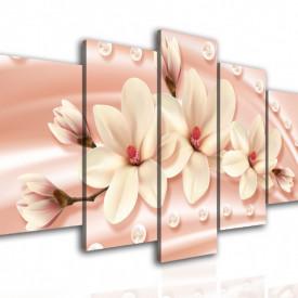 Multicanvas, Magnolia albă pe un fond roz