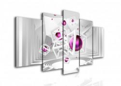 Multicanvas, Mingea liliac pe fundalul 3D