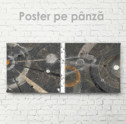 Poster, Cosmos în stil abstract