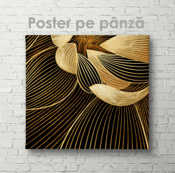 Poster, Linii aurii pe fundal negru