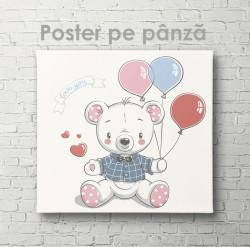 Poster, Urs cu baloane