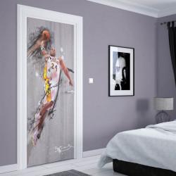 Stickere 3D pentru uși, Basketball, 1 foaie de 80 x 200 cm
