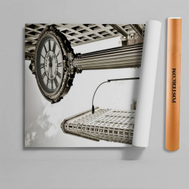 Stickere 3D pentru uși, Orașul alb-negru, 1 foaie de 80 x 200 cm