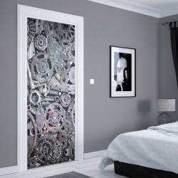 Stickere 3D pentru uși, Piese auto, 1 foaie de 80 x 200 cm