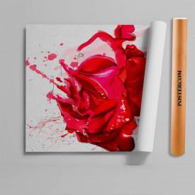 Stickere 3D pentru uși, Trandafirul roșu, 1 foaie de 80 x 200 cm