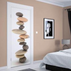 Stickere 3D pentru uși, Turnul din pietre , 1 foaie de 80 x 200 cm