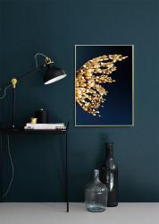 Tablou, Aripă de fluture auriu abstract