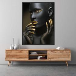 Tablou, Fată cu buze aurii
