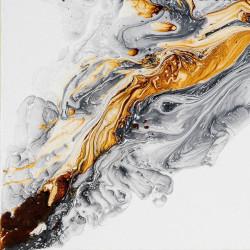Tablou, Fluid gri-auriu