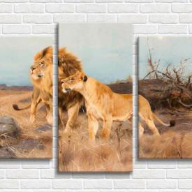 Tablou modular, Leii la vânătoare