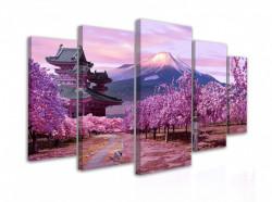 Tablou modular, Sakura înflorită