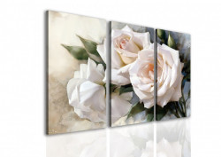 Multicanvas, Un buchet de trandafiri albi.