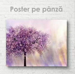 Poster, Copacul cu flori pe un fond abstract